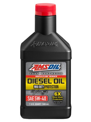 AMSOIL Signature Series Max-Duty Synthetic Diesel Oil 5W-40 (QT)