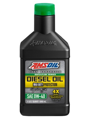 AMSOIL Signature Series Max-Duty Synthetic Diesel Oil 0W-40 (QT)