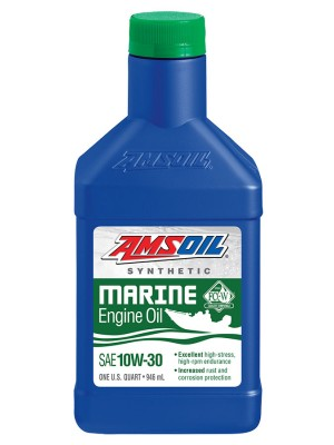 AMSOIL 10W-30 Synthetic Marine Engine Oil (QT)