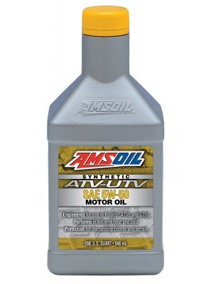 AMSOIL 5W-50 Synthetic ATV/UTV Engine Oil (QT)