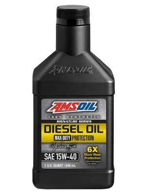 AMSOIL Signature Series Max-Duty Synthetic Diesel Oil 15W-40 (QT)