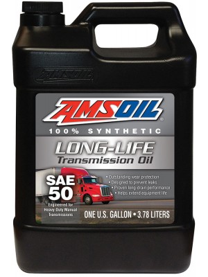 AMSOIL SAE 50 Long Life Synthetic Transmission Oil (2.5 GALLON)