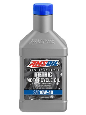 AMSOIL 10W-40 Synthetic Metric Motorcycle Oil (QT)