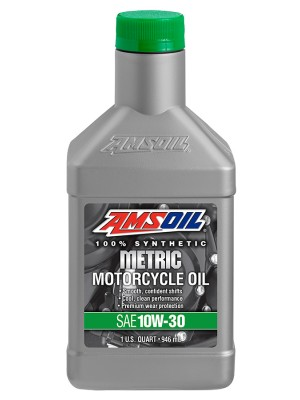 AMSOIL 10W-30 Synthetic Metric Motorcycle Oil (QT)