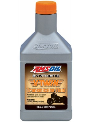 AMSOIL Synthetic V-Twin Transmission Fluid (QT)