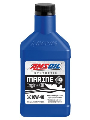 AMSOIL 10W-40 Synthetic Marine Engine Oil (QT)